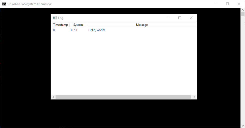 Connected console and WPF window