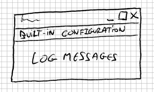 Doodle layout built-in configuration and log messages